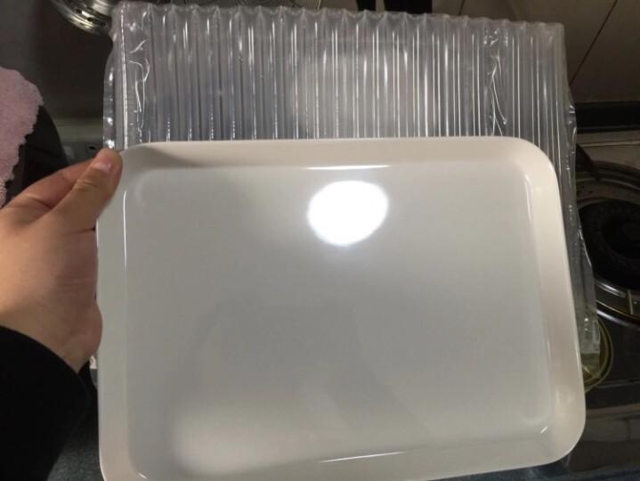 KORDCO 大可餐具密胺托盘酒店托盘茶盘家用放水杯托盘长方形蛋糕面包盘仿瓷白色托盘餐盘 PN330长30宽21.5cm 晒单图