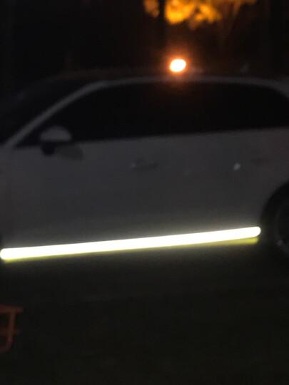 3M钻石级汽车反光贴条 自行车摩托单车反光纸 夜间彩色醒目安全警示贴膜 钻石白 宽5cm*长1m 晒单图