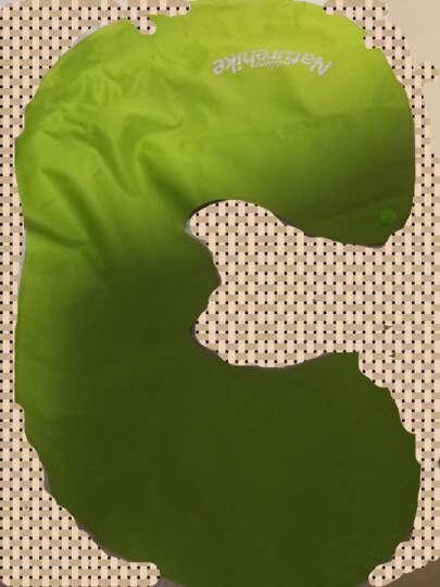 NH挪客充气u型枕 护颈枕户外旅行U形枕旅游睡枕头枕飞机 脖子靠枕 春芽绿 晒单图