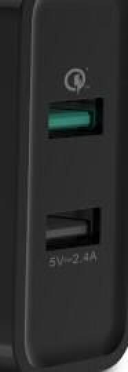 绿联 QC3.0+2.4A双口快充充电器 FCP华为P9多口USB充电头 苹果安卓手机电源适配器 支持小米5/6荣耀 30599 黑 晒单图