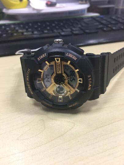 迪士尼(Disney)手表男学生 电子表防水户外运动男士 双显夜光青少年男表儿童手表MK-15052Y 晒单图