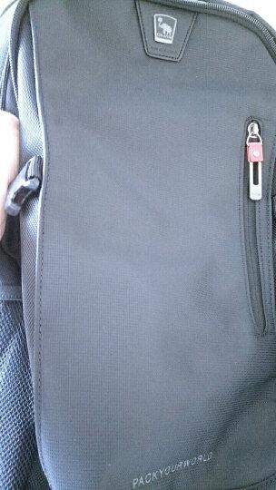 爱华仕(OIWAS)时尚商务双肩包 防泼水笔记本电脑包14英寸 男女休闲背包书包 4313深蓝色 晒单图