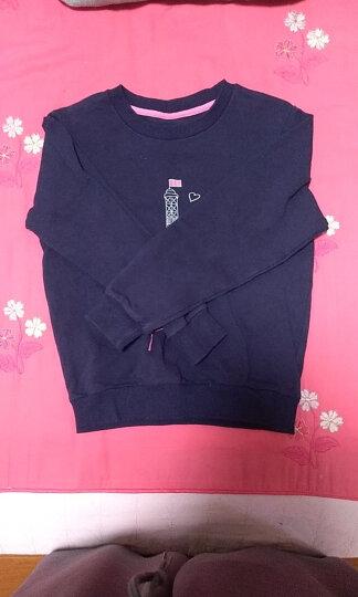馨颂女童卫衣春秋中大儿童长袖运动套头上衣 藏蓝 130 晒单图