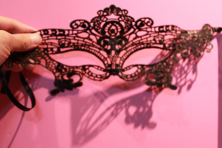 淘趣猫(taoqumao) 淘趣猫蕾丝情趣眼罩性感化妆舞会女王定型款 黑色大眼睛定型眼罩PPC01 均码 晒单图