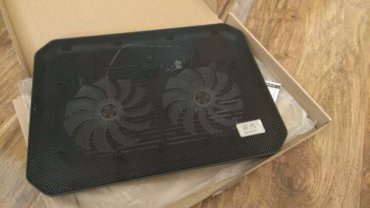 诺西(NUOXI)M10   笔记本散热器(笔记本支架/散热垫/电脑配件/2风扇/静音散热架/黑色/15.6英寸) 晒单图