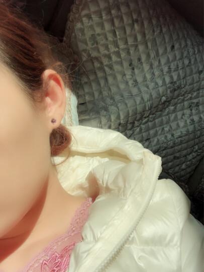 暖色采用施华洛世奇元素水晶耳钉韩版时尚魔方耳饰生日礼物礼物- 炫彩紫光 晒单图