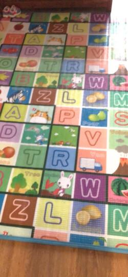 里奥船长婴儿爬行垫加厚爬爬垫泡沫地垫儿童垫子游戏垫 卷发-水果乐园+跳房子180*200*2cm 晒单图