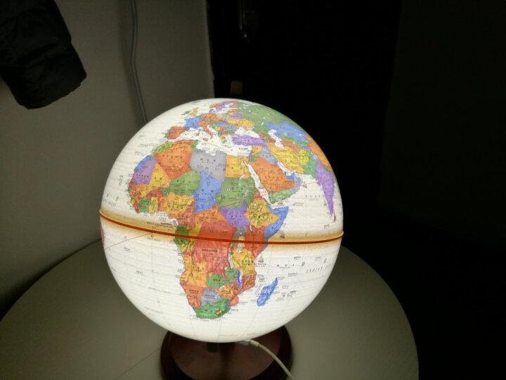 博目地球仪:25CM政区中(英文灯光仿古地球仪 木座合金架) 晒单图