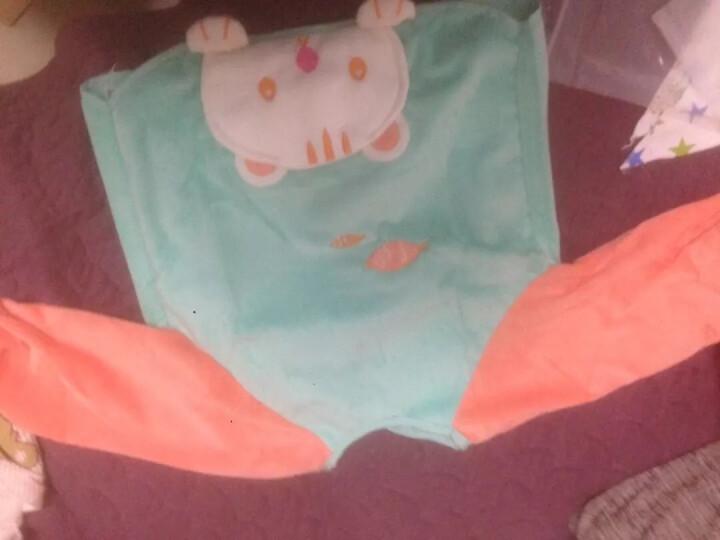 可爱布丁 罩衣宝宝吃饭长袖围兜儿童用品双层防水反穿衣 法莱绒湖绿橘猫咪带口袋 晒单图