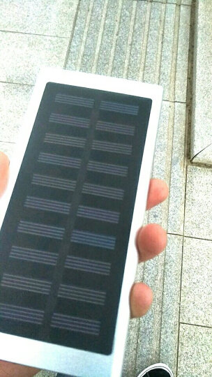 【有光就有电】太阳能充电宝超薄迷你小巧oppo苹果vivo华为80000M移动电源20000毫安 优雅银-太阳能+充电器 晒单图