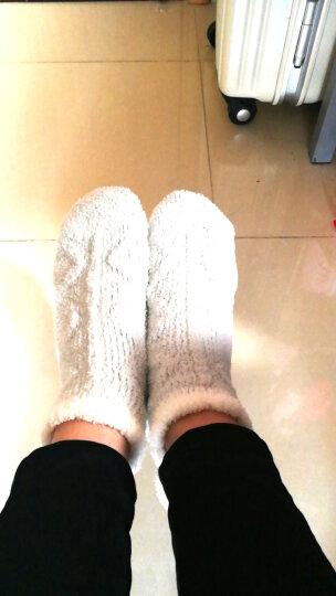 南极人地板袜女成人珊瑚绒毛巾女袜子 防滑点胶家居袜月子袜软绵绵秋冬保暖袜 薄荷绿色4双装 晒单图