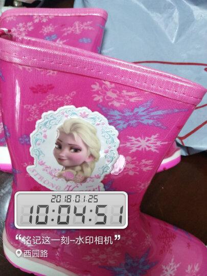 迪士尼 Disney 儿童雨鞋 男女童小学生中筒防滑胶鞋大小童雨靴 16180 冰雪玫35码/内长23cm 晒单图