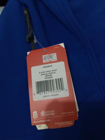 北面(The North Face) 男款户外运动防风保暖多功能立领软壳衣 C933 J6L蓝色 2XL-180/92A 晒单图