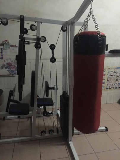 大型多功能健身器材综合训练器力量组合力量器械健身房综合训练器蹬腿组合力量SEHA 黑色款五人站卧推举重架(豪华全套不含彩杠铃片) 晒单图