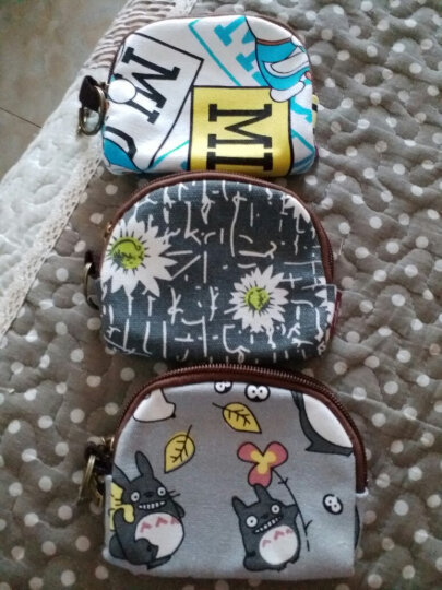 xzy零钱包女布艺帆布迷你硬币包可爱小清新简单学生小钱包钥匙包 小象T-粉色 晒单图