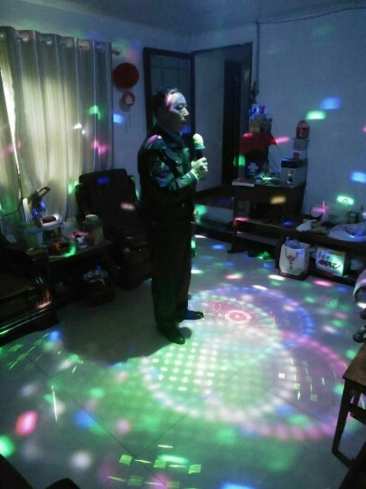 灯夫人 彩灯舞台灯光 氛围照明声控ktv灯光家用酒吧灯光光束灯蹦迪灯 宇宙水晶魔球灯 宇宙魔球LED+激光+遥控款 晒单图