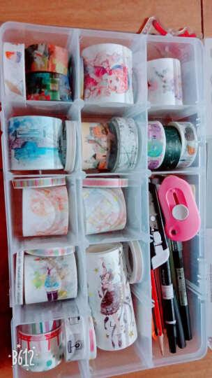 唯美彩色斑斓七彩童年记忆胶带SLIM7极细彩虹和纸胶带整卷手帐本 彩色胶带6色盒装 彩色蜡笔  一盒6款装 晒单图
