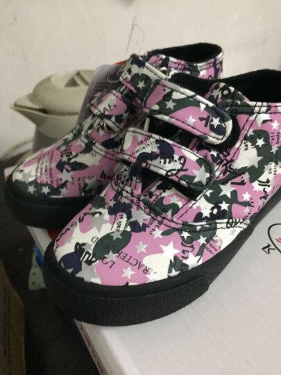 飞耀(FEIYAO)童鞋儿童靴子冬季保暖男童女童棉鞋经典高帮魔术贴雪地靴 军绿色 27码/内长约17.5CM 晒单图