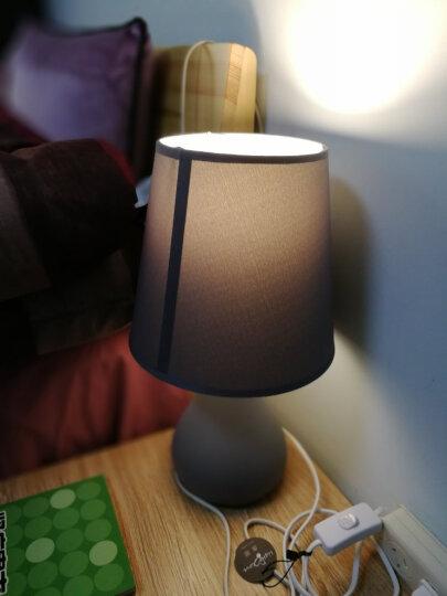 盏爱马卡龙粉色台灯卧室床头灯创意简约现代陶瓷灯具 北欧式温馨公主暖光小夜灯 马卡龙大号白色+LED遥控灯泡 晒单图