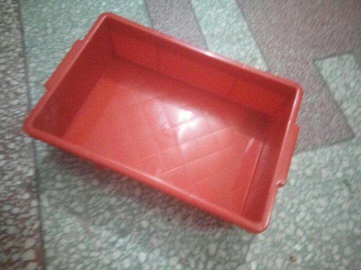 铭丰腾龙加厚超低价塑料零件盒 周转盒 物料盒 螺丝盒 塑料盒工具箱塑胶盒 平口箱 03#平口箱256*177*77MM 红色 晒单图