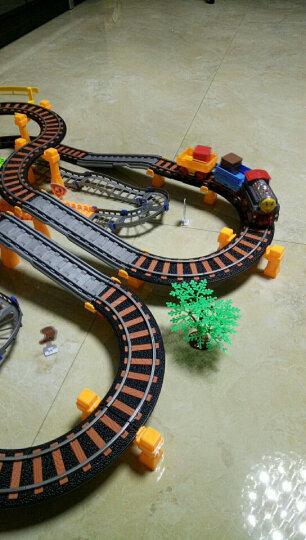 奋铭电动轨道车儿童玩具 小火车头套装赛车轨道玩具汽车儿童礼物 益智玩具3456周岁男孩女孩玩具 192件套白金加大版软轨组合(6601充电版) 晒单图