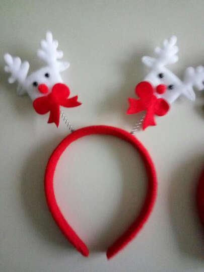 仕彩 圣诞节装饰品圣诞节发光头饰发卡大人儿童装扮圣诞节装饰圣诞节装饰 圣诞头箍 毛毡鹿 晒单图