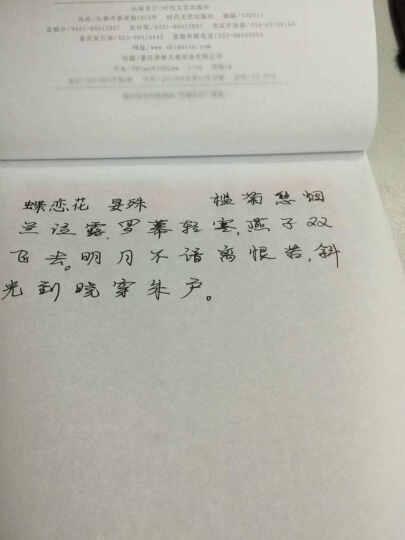 庞中华经典宋词欣赏:行书(钢笔字帖) 晒单图