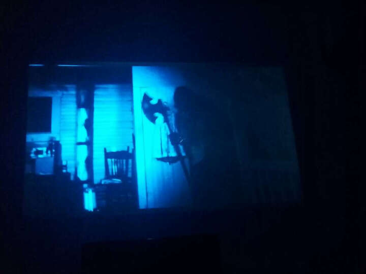 办公家用投影机 LED微型高清投影仪 3D便捷手机迷你KTV 套餐一标配版(不能WIFI上网) 晒单图