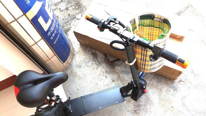 【新国标3C认证】英格威电动车成人电动自行车代驾折叠电动车14寸锂电池电动滑板车电瓶车GPS汽车锂电 GPS-32650汽车电池助力40-70公里红黑 晒单图