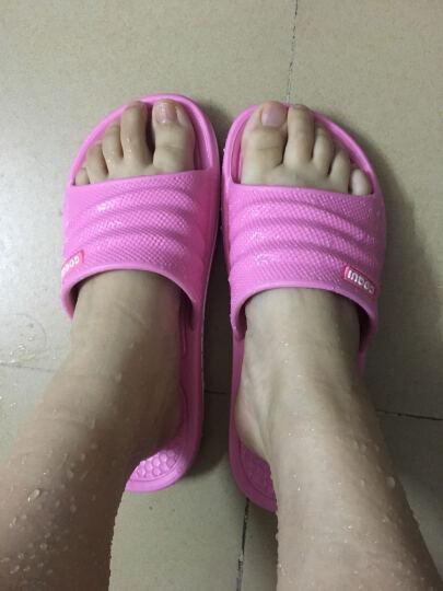 酷趣(Coqui)夏季拖鞋 情侣凉拖鞋浴室拖鞋 7922 升级款7922静谧蓝 35/36(适合35-36脚) 晒单图