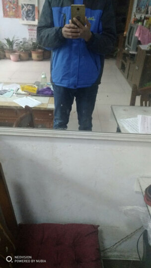 传奇保罗(CHUANQIBAOLUO) 传奇保罗 冲锋衣男款外套秋冬防水防寒加绒连帽户外保暖棉服 黑色 XL-175 晒单图