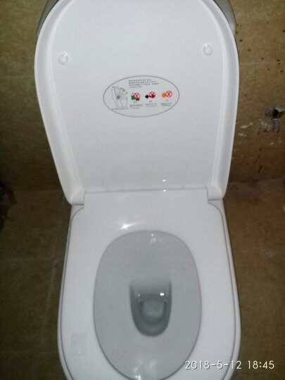 帝王卫浴马桶 缓降马桶盖板喷射虹吸式冲水马桶坐便器抽水座便器坐厕 箭牌直冲马桶300坑距 晒单图