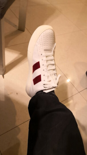 BALLY 巴利 男士白色红白条纹皮质休闲运动鞋 HENTON FO 107 7/41码 晒单图