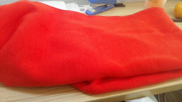 邦娜原创2018冬装新款女装长袖针织连衣裙中长款毛衣女套头打底裙 酒红色 现货 L 晒单图
