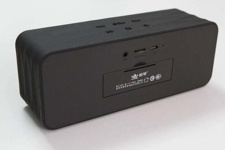 朗琴(ROYQUEEN)H3600 无线蓝牙插卡音箱 手机电脑低音炮 多功能立体声音响 免提通话/收音 闹钟音响 蓝色 晒单图