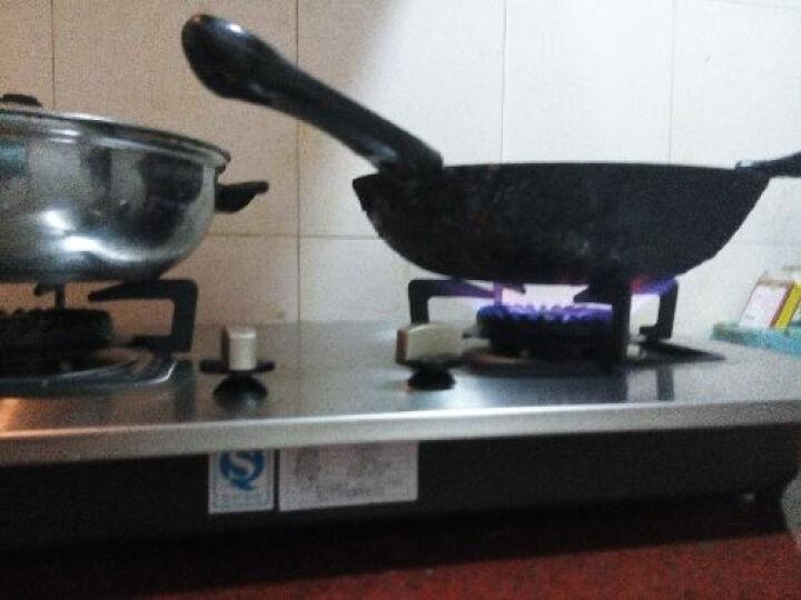 亿田(entive) 燃气灶 不锈钢煤气灶 台嵌两用式双眼灶具 不锈钢银色面板DA7 管道天然气 晒单图