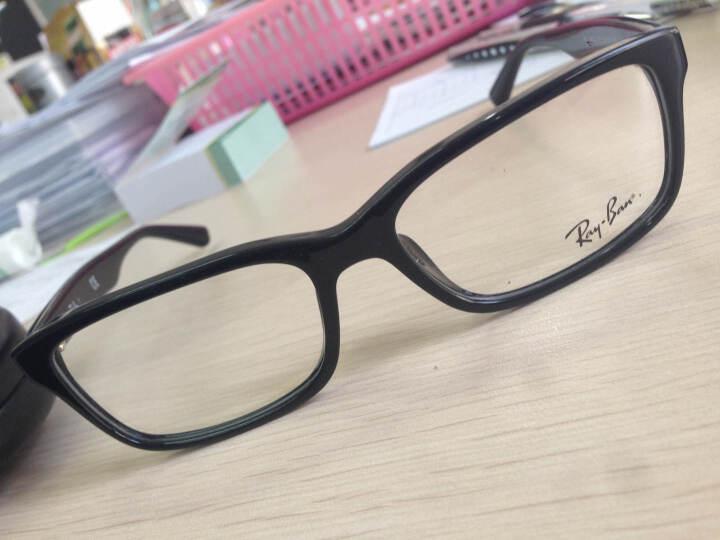 Ray-ban 雷朋近视眼镜框男女款全框板材复古光学镜架可配镜RB5296-D 棕色 配依视路1.67钻晶A4 晒单图