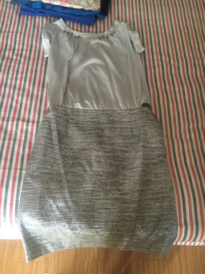 PORTS宝姿  时尚简约舒适棉质连衣裙 LK1D111KFD025 CRYSTAL MIX 6(165/88Y) 晒单图