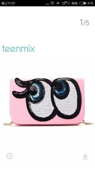 Teenmix/天美意夏时尚亮片大眼睛小包女包BY02DBN7 浅粉色 F 晒单图