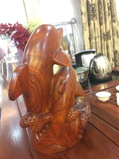 中式红酒架红木创意酒托木质酒柜摆件装饰品 海豚酒架 晒单图