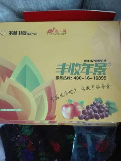 农一官方正品 [丰收年景/盛世年景] 0.5%噻苯隆SL+氨基酸≥100g/l叶面肥增产苹果樱桃葡萄 (7+100)克*5组/盒 晒单图