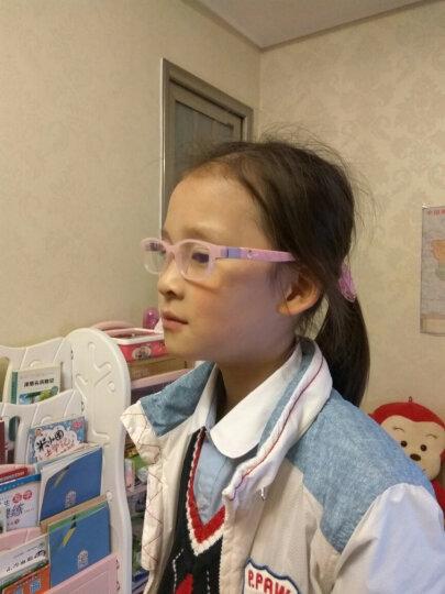 EFE儿童眼镜防蓝光辐射眼镜 手机电脑护目镜 预防近视眼镜适合3-8岁 C1-粉红色 晒单图