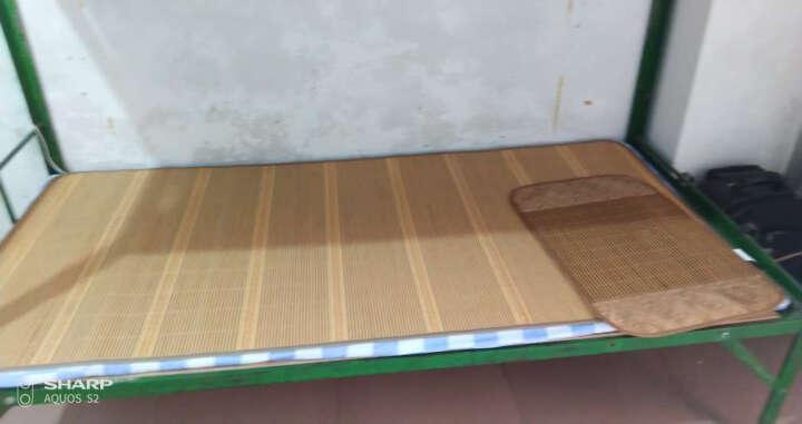 邦德 学生床竹席凉席子学校宿舍0.9米床铁架床格子铺 高低铺 单人床 折叠竹席不含枕套 100*190 晒单图