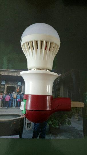 灿美家 E27螺口墙壁插座灯两插转换灯座灯头壁灯转换开关led小夜灯头临时应急灯 带开关灯 带开关灯座-E27螺口 晒单图