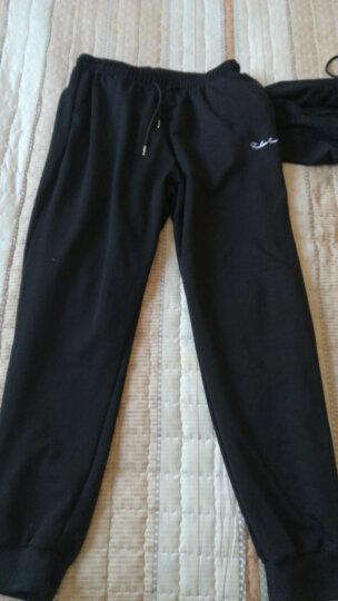 牧鹿者运动套装男2018春季大码跑步服两件套和三件套休闲健身卫衣服速干紧身羽毛球服 黑色两件套(外套+运动裤) XL 晒单图