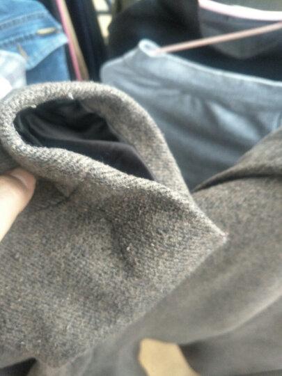 梵太(FANTAI)羊毛呢大衣男士秋冬中长翻领潮流百搭新款风衣外套 1711/深咖 3XL/190 晒单图