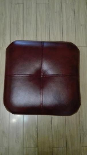 美之印象 皮凳子 真皮凳子 沙发凳 时尚方凳 矮坐墩 欧式换鞋凳 搁脚凳 可定制 红色 黑色(超纤皮) 晒单图