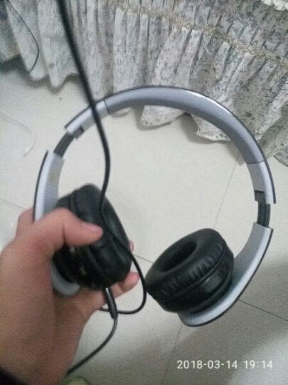 Figma TM06 蓝牙耳机双耳无线头戴式运动插卡折叠便携立体声重低音音乐耳麦游戏手机电 黑色 晒单图