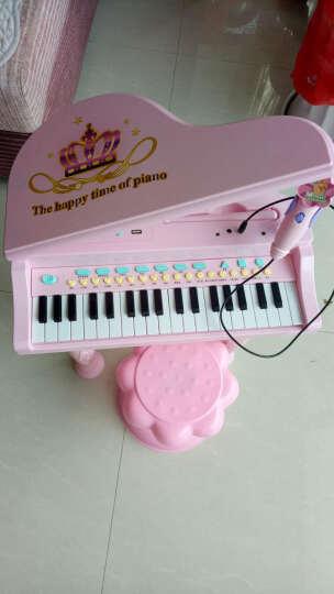 育儿宝(Yu Er Bao) 儿童电子琴钢琴3-6岁带麦克风男女孩宝宝多功能迷你音乐玩具 彩盒耳机U盘版粉(琴贴+乐谱+耳机+U盘功能) 晒单图