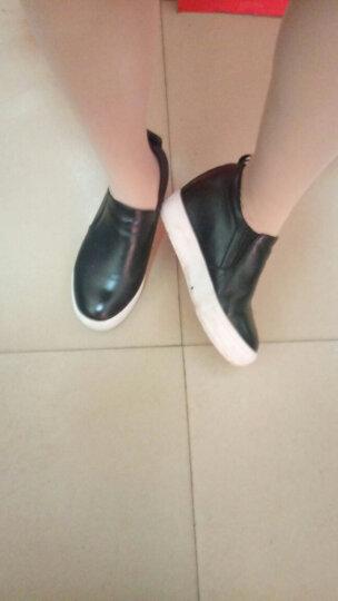 艾梵图女鞋真皮镂空透气休闲鞋套脚女士凉鞋隐形内增高平底乐福鞋 白色网孔 37 晒单图